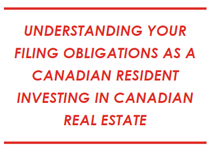 CANADIAN RESIDENT INVESTING IN CANADIAN REAL ESTATE