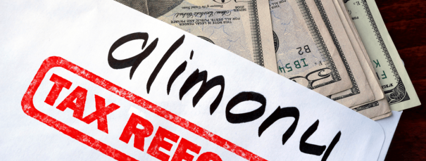CHANGES IN ALIMONY TAX TREATMENT